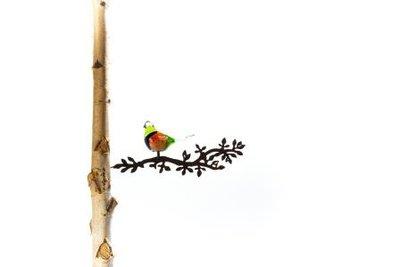 Vogel glas op tak 2 (Merk: Gerry's Garden)