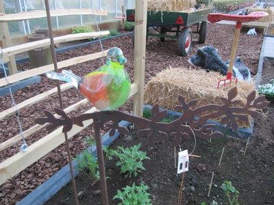 Vogel glas op tak 1 (Merk: Gerry's Garden)
